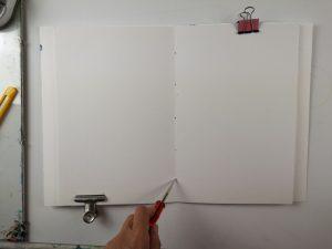 Art Journal 5 Löcher stechenb